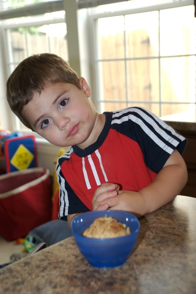 Noah at age 3. He was my baking buddy.