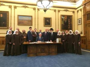 Indiana Gov Mike Pence Signs RFRA in Indy